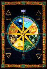 Pagan Wheel of the Year Banner Wall Calendar or Flag Colorful Wall Decor #57470