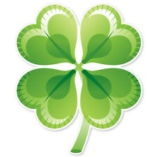 "Four Leaf Clover Irish Luck sign sticker decal 4"" x 4"""