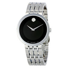 Movado Esperanza Black Dial Stainless Steel Mens Watch 0607057