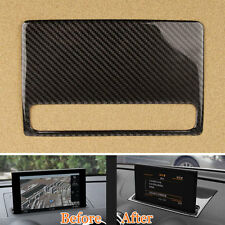 Interior Dashboard Navigation GPS Decoration Trim Carbon Fiber For Audi A3 12-15