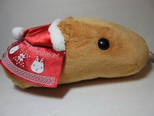 Christmas Kapibarasan Brown Capybara Red Santa Hat Sweater 30cm Plush Cushion