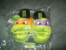 TEENAGE MUTANT NINJA TURTLES SLIPPERS Adult TMNT medium Donatello Michealangelo