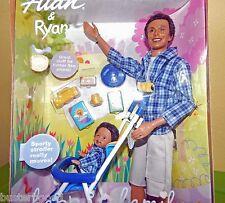 Happy Family Alan & Ryan Barbie 2002 African American AA 56711 Set