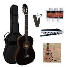 4/4 Gitarre, Konzertgitarre classic schwarz C21 im Set, Tasche, Band, Zubehör, ö