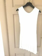 Christian Dior ladies Tunic/Dress.  White Pleated.  Size 40.