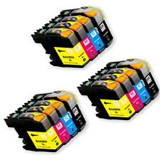 12PK Ink Cartridge Set + chip for Brother LC201 LC203XL MFC J680DW J880DW J885DW