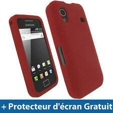 Rouge Silicone Etui pour Samsung Galaxy Ace S5830 Android Housse Coque Case
