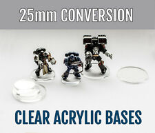 50x 25mm Acrylic Bases for Age of Sigmar, Warhammer, WFB, WH40K