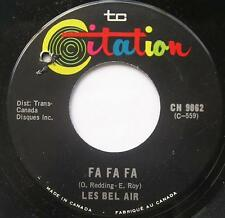 LES BEL-AIR Fa fa fa FRENCH SOUL Canada QUEBEC 1968 Groupe 45 Vinyl LISTEN!!!