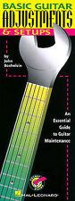John Boehnlein Basic Guitar Adjustments & Setups Learn Play Bass Music Book