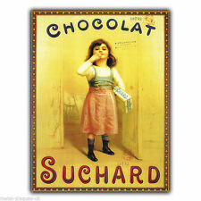 METAL SIGN WALL PLAQUE CHOCOLAT SUCHARD French Retro Vintage poster Advert Print