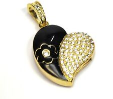 4 GB USB accessori Chiavetta Di Memoria Flash Drive Cuore Corazon color oro