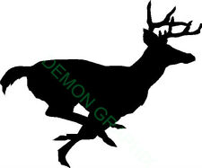 Running Buck Vinyl Decal/Sticker Whitetail Deer Hunting Archery antlers