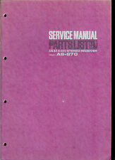 Orig Factory Akai AS 970 AM FM Stereo Receiver Service Manual Parts List Combo
