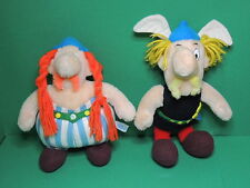 Astérix & Obelix Lot 2 peluche ancienne 30cm Parc Asterix 1989 plush soft toy
