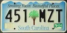 Original Nummernschild USA South Carolina 2004 plaque d'immatriculation TARGA