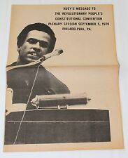 BLACK PANTHER PARTY Huey Newton 1970 ORIGINAL POSTER Radical Left Civil Rights