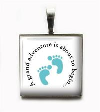 A Grand Adventure New Baby Boy Pendant Charm Keychain Custom Grandparents Gift