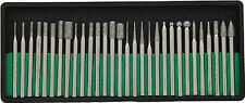 "New 30pc Diamond Burr Set 1/8"" Shank 240 Grits Dremel Type Rotary Tool #8230DD24"