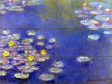 Monet Water Lilies Mural Ceramic Backsplash Bath Tile #121