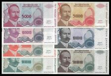 Bosnia Herzegovina Banknotes 1993 mixed all UNC x 7 PCS