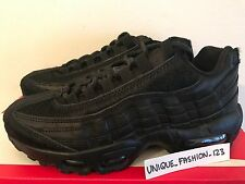 WMNS NIKE AIR MAX 95 PRM UK 4 US 6.5 37.5 TRIPLE BLACK PONY HAIR PACK 807443-004