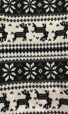 NEW CHRISTMAS REINDEER Leggings TWEEN SOFT HOLIDAY Fair Isle Black Cream OS