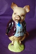 "Beswick Beatrix Potter ""PIGLING BLAND"" GOLD OVAL BP2 CUTE!"