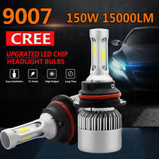 PAIR CREE 150W 15000LM 9007 HB5 LED Headlight Kit Bulbs Hi/Lo Beam 6500K Canbus