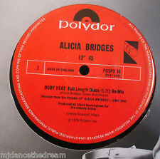 "ALICIA BRIDGES ~ Body Heat ~ 12"" Single"