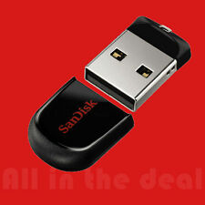 SanDisk 64GB Cruzer FIT USB 2.0 Flash Mini Pen Drive SDCZ33-064G 64 GB