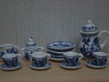 Delft tea set, maison de poupées miniatures vaisselle cuisine & salle à manger échelle 1.12