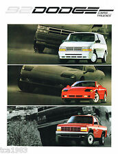 1992 DODGE/Truck Brochure/Catalog: STEALTH,DAYTONA,RAM PickUp,150,DAKOTA,50,4WD,