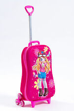 Kid's Trolley Roller Bag Girl 3D Rolling Suitcase Luggage Backpack Alternative