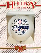 Chicago Cubs 2016 World Series Champs CHRISTMAS ORNAMENT - White - SHATTERPROOF