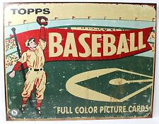 TOPPS 1954 BASEBALL CARDS METAL SIGN Advertising NEW Vintage Repro Poster USA