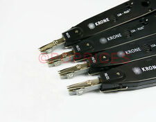 4PCS Set - Krone Network Adjustable Impact LSA-Plus Punch Down Tool Black