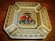 Vtg Finn Mac Court Ashtray With Shamrocks Made in Ireland Irish Porcelain Wade