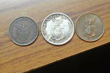 1944S PHILIPPINES 50 CENTAVOS -WW2 Silver Coin PLUS 2 ONE CENTAVOS '04 '44