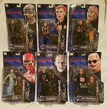 NECA / REEL TOYS HELLRAISER SERIES 2 SET OF 6 FIGURES PIN HEAD...NEW ON CARDS