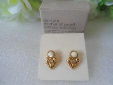 US AVON Vintage Delicate Mother of Pearl Pierced Earrings Jewelry