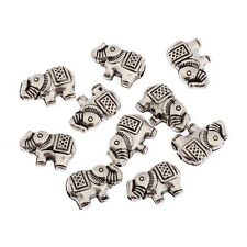 Elephant Beads Square Tibetan Silver Charms Spacer DIY Bracelet 12*8mm 20pcs