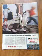 1959 Johnson Boat Motor Ad Sea-Horse Dynautical Design  Fun at your Fingertips