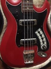 Hagstrom bass 1967 ? Vintage - Red , W / Case 60's