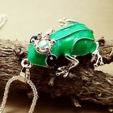 Fashion gold-plated Frog Prince pendant Crystal Necklace Sweater chain JJ241