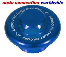 APICO BLUE ANODISED ALLOY OIL PLUG FILLER CAP SUZUKI RM 125/250 92-13 MOTOCROSS