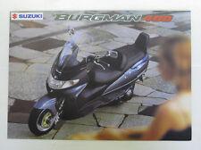 SUZUKI BURGMAN 400 SCOOTER Sales Brochure Nov 1998 #MB9AN400-BROCH
