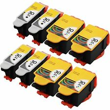 8 Pack Black & Color 30 XL Ink Cartridges for Kodak ESP Office 2170 Printer