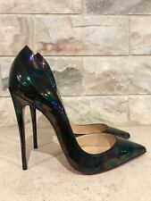 NIB Christian Louboutin Iriza 120 Black Stellar Patent So Kate Pump Heel 38