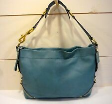 ~COACH~Carly XL Slim Leather Satchel  # 11636 EUC! Rare Color! Beryl Green